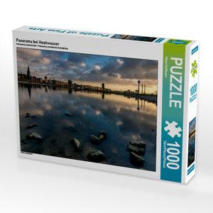 Panorama bei Hochwasser 1000 Teile Puzzle quer