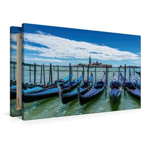 Premium Textil-Leinwand 90 cm x 60 cm quer Venedig