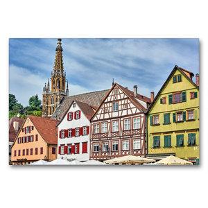 Premium Textil-Leinwand 90 cm x 60 cm quer Fachwerkhäuser am Mar