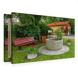 Premium Textil-Leinwand 75 cm x 50 cm quer Toni-Meyer-Brunnen Ha