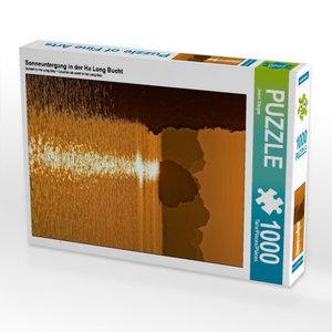 Sonneuntergang in der Ha Long Bucht 1000 Teile Puzzle hoch