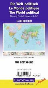 KuF Die Welt, politische Karte 1 : 30 000 000, plano