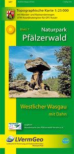 Naturpark Pfälzerwald Blatt 7 Westlicher Wasgau mit Dahn 1 : 25