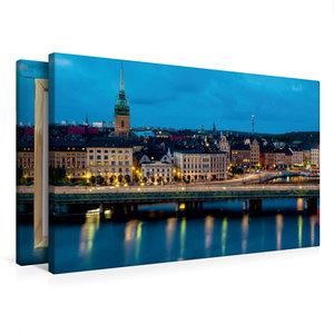 Premium Textil-Leinwand 75 cm x 50 cm quer Stockholm