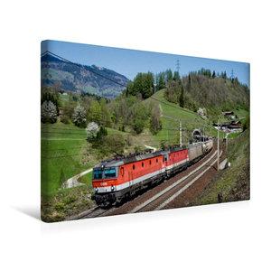 Premium Textil-Leinwand 45 cm x 30 cm quer Güterverkehr am Tauer