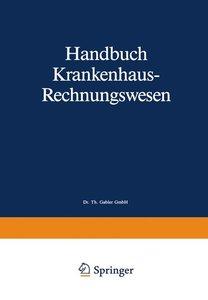 Handbuch Krankenhaus-Rechnungswesen