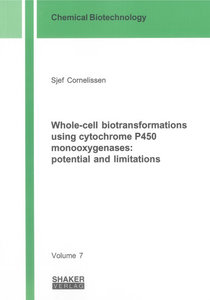 Whole-cell biotransformations using cytochrome P450 monooxygenas