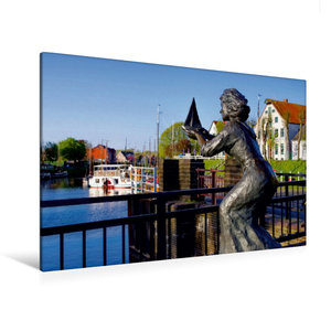 Premium Textil-Leinwand 120 cm x 80 cm quer Carolinensiel
