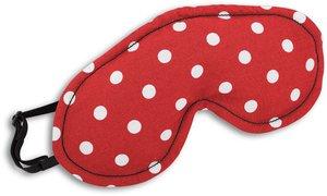Schlafmaske, Peanut, Farbe: Polka dot rot / Mitternacht