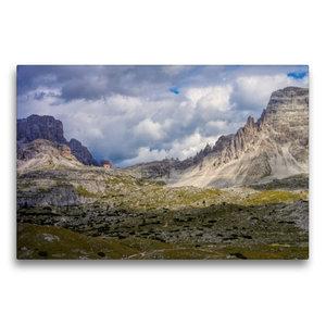 Premium Textil-Leinwand 75 cm x 50 cm quer Dreizinnenhütte
