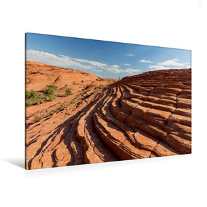 Premium Textil-Leinwand 120 cm x 80 cm quer Snow Canyon, UT
