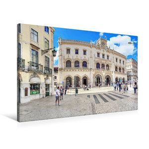Premium Textil-Leinwand 90 cm x 60 cm quer Bahnhof Rossio direkt
