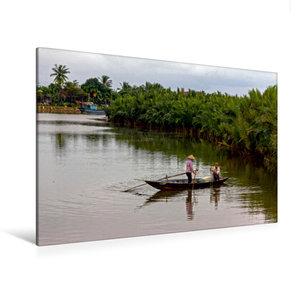 Premium Textil-Leinwand 120 cm x 80 cm quer Fischfang auf dem Th