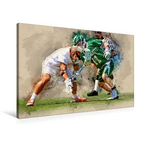 Premium Textil-Leinwand 90 cm x 60 cm quer Lacrosse