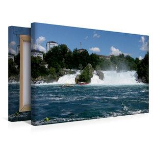 Premium Textil-Leinwand 45 cm x 30 cm quer Der Rheinfall