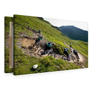 Premium Textil-Leinwand 75 cm x 50 cm quer Hinterglemm/Austria