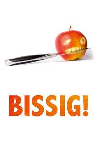 Premium Textil-Leinwand 80 cm x 120 cm hoch BISSIG - der Apfel