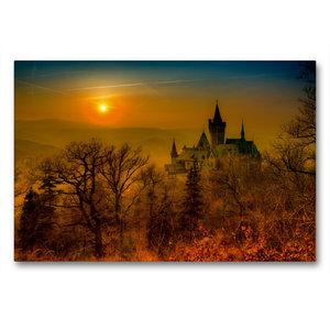 Premium Textil-Leinwand 90 cm x 60 cm quer Schloss Wernigerode