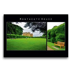 Premium Textil-Leinwand 75 cm x 50 cm quer Montacute House, Engl