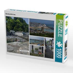 CALVENDO Puzzle Clovelly & St. Ives 1000 Teile Lege-Größe 64 x 4