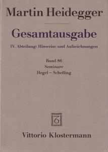 Seminare: Hegel-Schelling