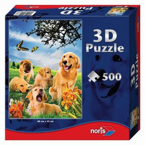 Puzzle 500 Teile mit 3D-Effekt. Hunde