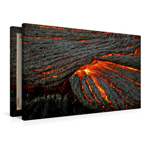 Premium Textil-Leinwand 90 cm x 60 cm quer Strick-Lava