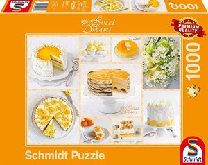 Strahlend gelbe Kaffeetafel (Puzzle)