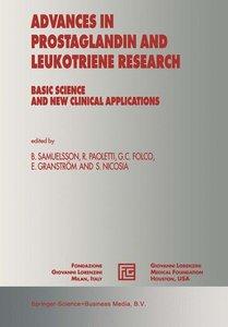 Advances in Prostaglandin and Leukotriene Research