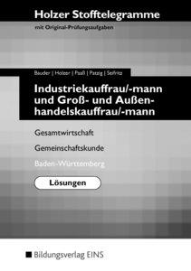 Stofftelegramme Industriekauffrau/mann und Kaufmann/Kauffrau für