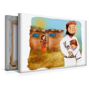 Premium Textil-Leinwand 45 cm x 30 cm quer Lasst alle Kinder zu