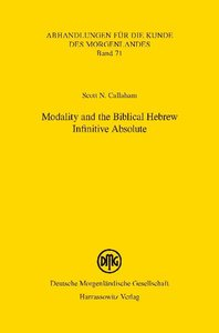 Modality and the Biblical Hebrew Infinitive Absolute