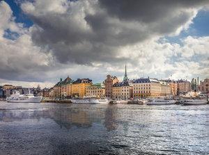 CALVENDO Puzzle Blick von Skeppsholmen auf die Altstadt Gamla St