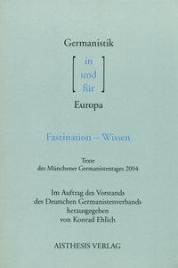 Germanistik in / und / für Europa