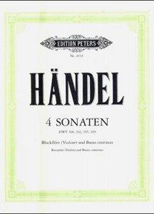4 Sonaten für Blockflöte (Violine) und Basso continuo HWV 360/36