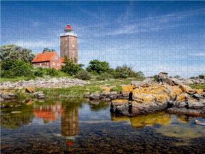 Der Leuchtturm von Svaneke 2000 Teile Puzzle quer