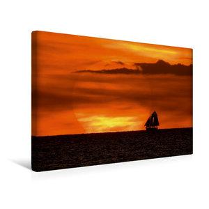 Premium Textil-Leinwand 45 cm x 30 cm quer Sonnenuntergang an de