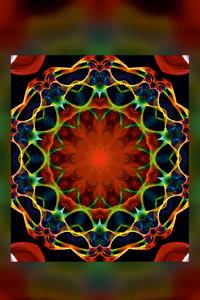 Premium Textil-Leinwand 80 cm x 120 cm hoch Mandala - Liebesglü
