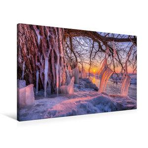 Premium Textil-Leinwand 90 cm x 60 cm quer Eiszapfen am Südufer