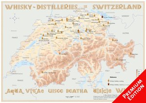 Whisky Distilleries Switzerland - Poster 60x42cm - Premium Editi