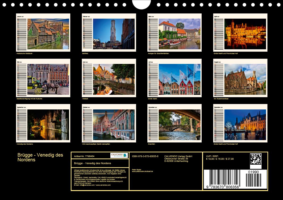 Brügge - Venedig des Nordens (Wandkalender 2020 DIN A4 quer) - zum Schließen ins Bild klicken