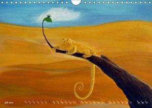 Kunst und Chamäleons (Wandkalender 2019 DIN A4 quer)