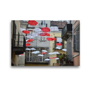 Premium Textil-Leinwand 45 cm x 30 cm quer schwebende Schirme