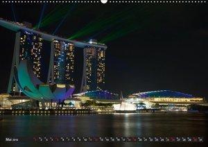 Singapur - Die Farben der Nacht (Wandkalender 2019 DIN A2 quer)