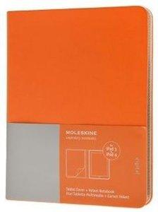 Moleskine Slim Cover iPad 3&4 cadmium orange, mit Notizblock