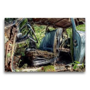 Premium Textil-Leinwand 75 cm x 50 cm quer Rostlaube - Opel Kade