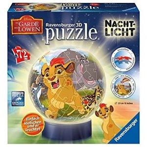 Nachtlicht Die Garde der Löwen 3D Puzzle-Ball 72 Teile