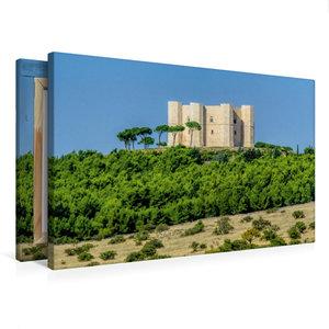 Premium Textil-Leinwand 75 cm x 50 cm quer Castel del Monte