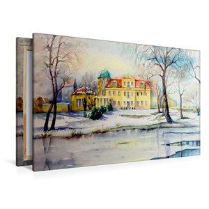 Premium Textil-Leinwand 120 cm x 80 cm quer Schloss Gundorf