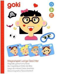 Magnetspiel Lustige Gesichter (Kinderspiel), Mädchen